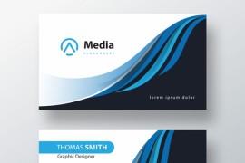 企业名片模板设计PSD - A011