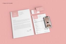 商务信纸样机模板设计 - A013